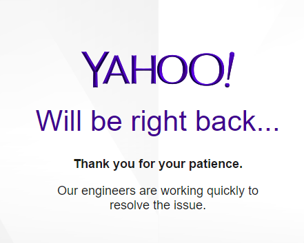 No They Won T Be Right Back Their Engineers Went Fishing And From What I Hear Working On The Issue Anytime Soon Yahoo Finance Api Is Dead